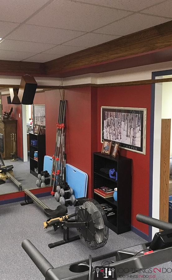 Basement makeover, home gym, One Room Challenge Spring 2018, ORC Spring 2018, theatre room makeover, home gym makeover