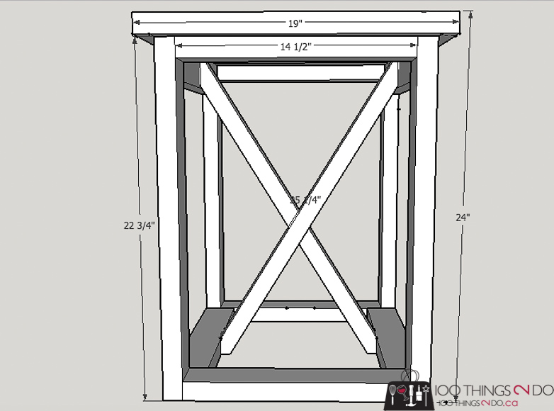 DIY side table, Rustic Industrial side table, Restoration Hardware knock-off, easy side table, side table plans
