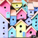 Bird house, bird houses, bird house collage, bird house art, Wood Art Challenge