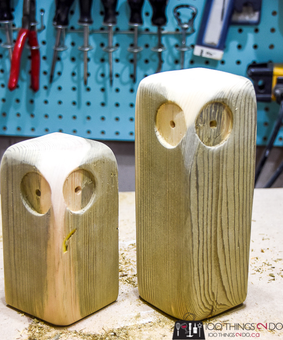 Scrap wood project, scrap wood ideas, scrap wood owls, wood owls, owl bookends