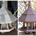 Birdhouse makeover, bird feeder, giant bird feeder, ornate bird feeder, bird feeder repairs, bird feeder makeover