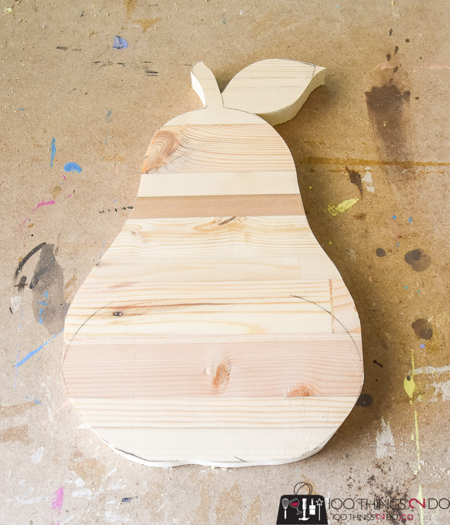 DIY cutting board, easy cutting board, shaped cutting board, pear cutting board