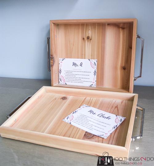 DIY serving tray, simple cedar tray, wood tray, DIY wood tray, make your own tray, patio tray