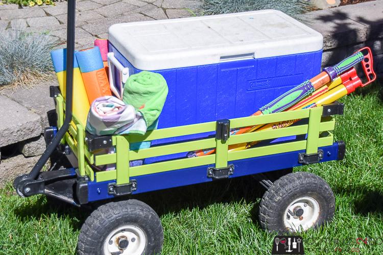 Classic kids wagon, wagon makeover, wood wagon for kids, painted wagon, painted wood wagon, painted kids wagon, kids wagon makeover
