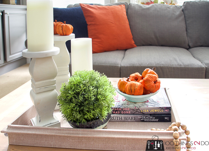 Decorating for Fall, Fall decorating, Fall family room, Fall decor, Autumn decorating, Fall vignette