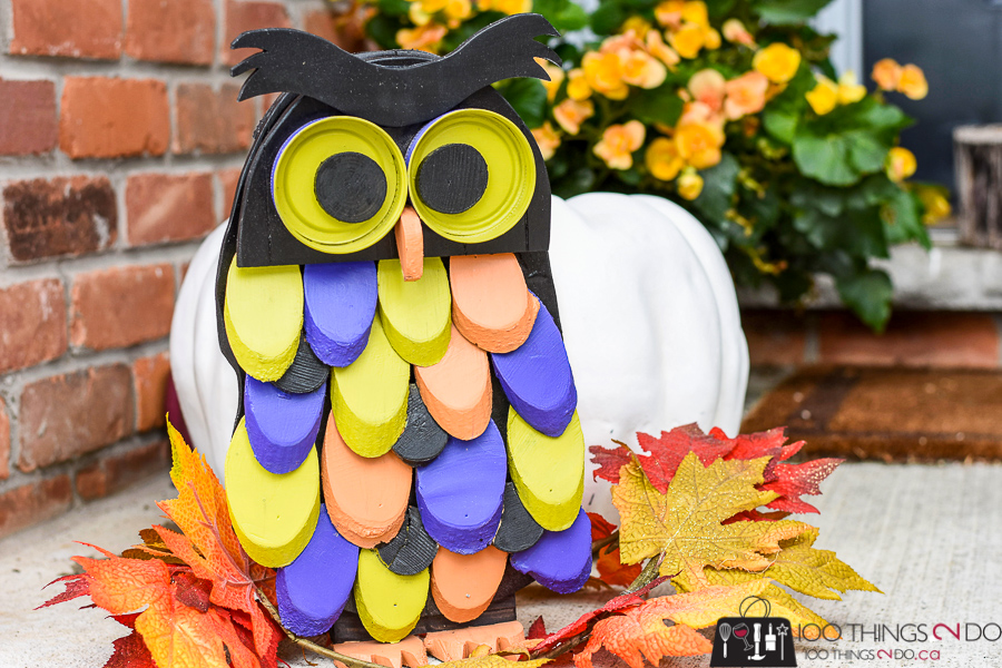 Hallowe'en Owl, DIY Hallowe'en decor, Outdoor Hallowe'en decor, Wood owl