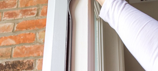 Removing weatherstripping from around front door