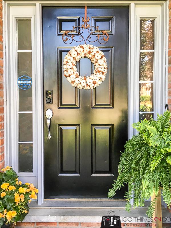 Winterizing your front door, Front door makeover, making your front door smart, smart home technology front door, M-D Building Products, Weiser Premis