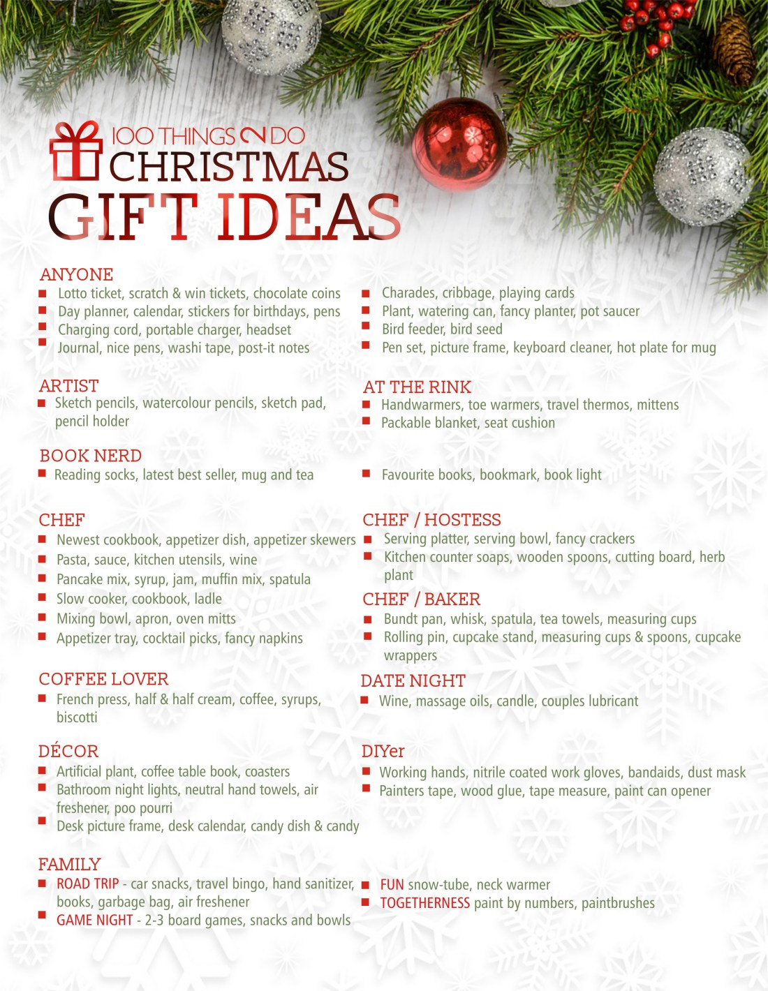 100 Christmas gift ideas, Christmas gift ideas, 100 gift ideas