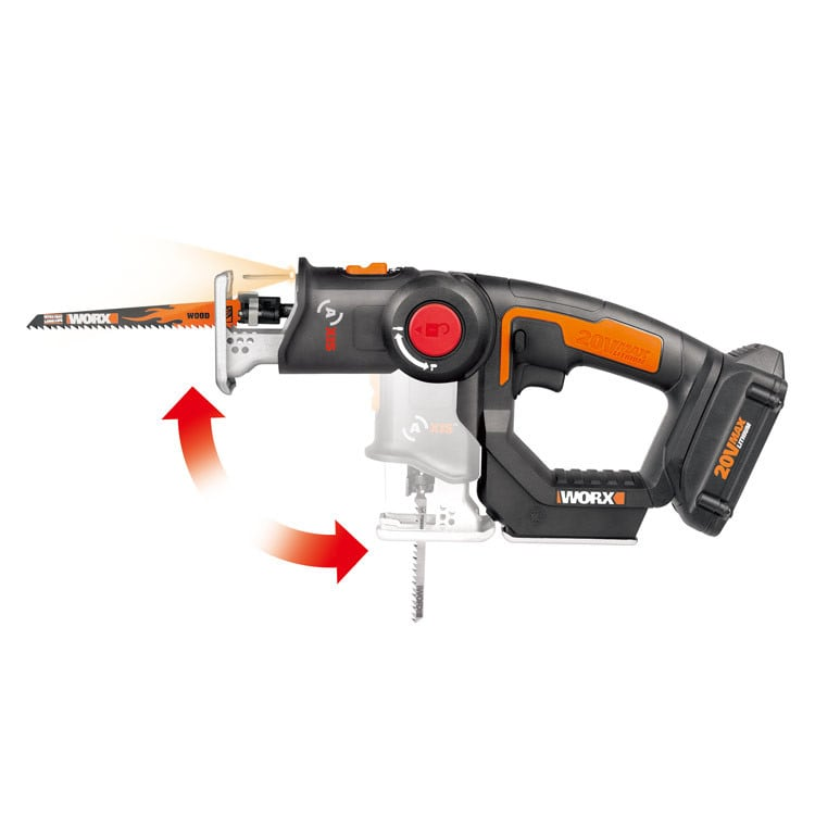 WORX Axis reciprocating and jig saw in one