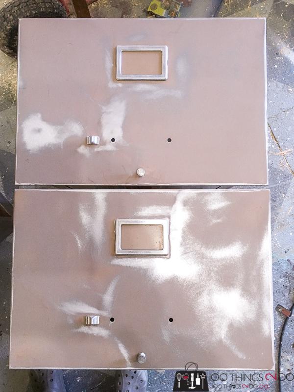 sanded filing cabinet drawers