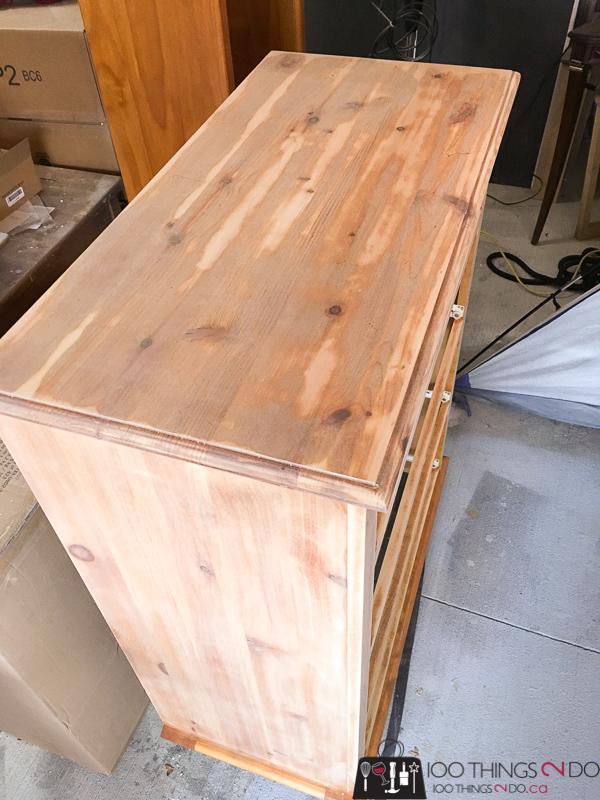 refinishing pine dresser