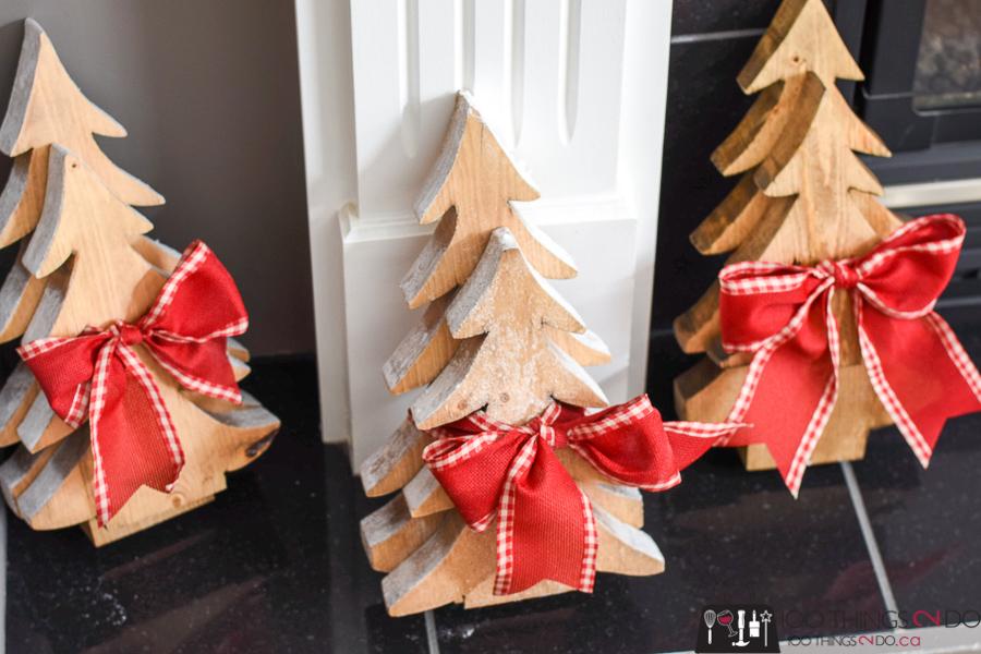 Wood Christmas trees, wood trees