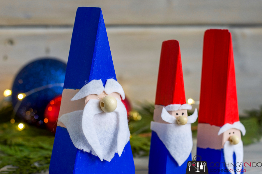 DIY gnomes, scrap wood gnomes, DIY tomte, DIY Nisse, wood gnomes, wood elves