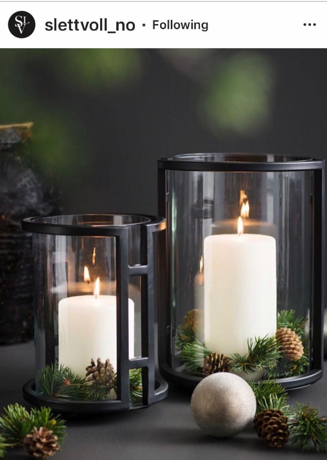 Round candle holders, round lanterns, cylinder lanterns