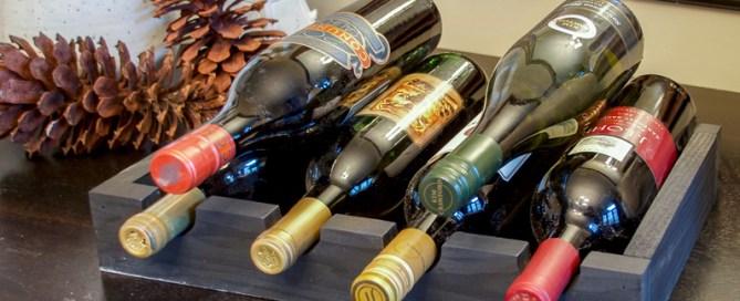DIY wine rack, scrap wood wine rack, small wine rack, wine rack