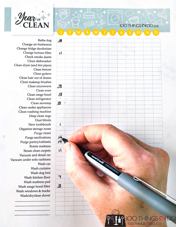 Year of clean, cleaning checklist, printable cleaning checklist