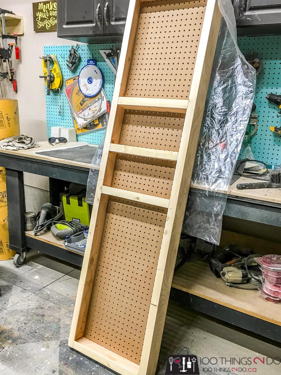 Behind-the-door-storage, behind the door storage rack, DIY door storage