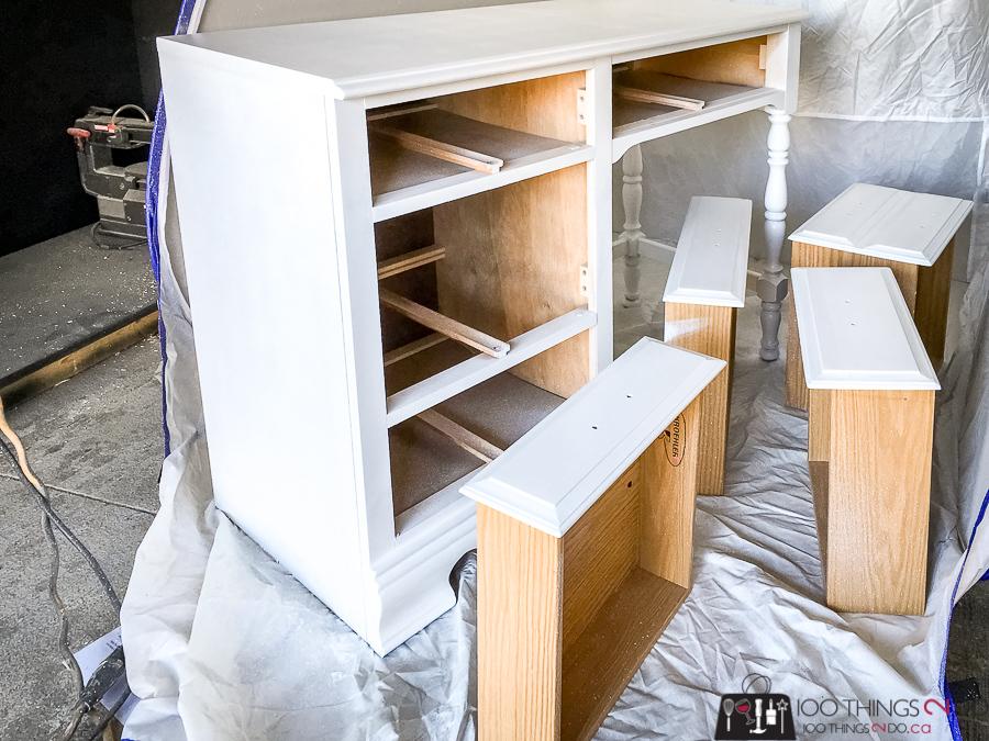 Desk makeover, girl's desk, white desk, peekaboo desk