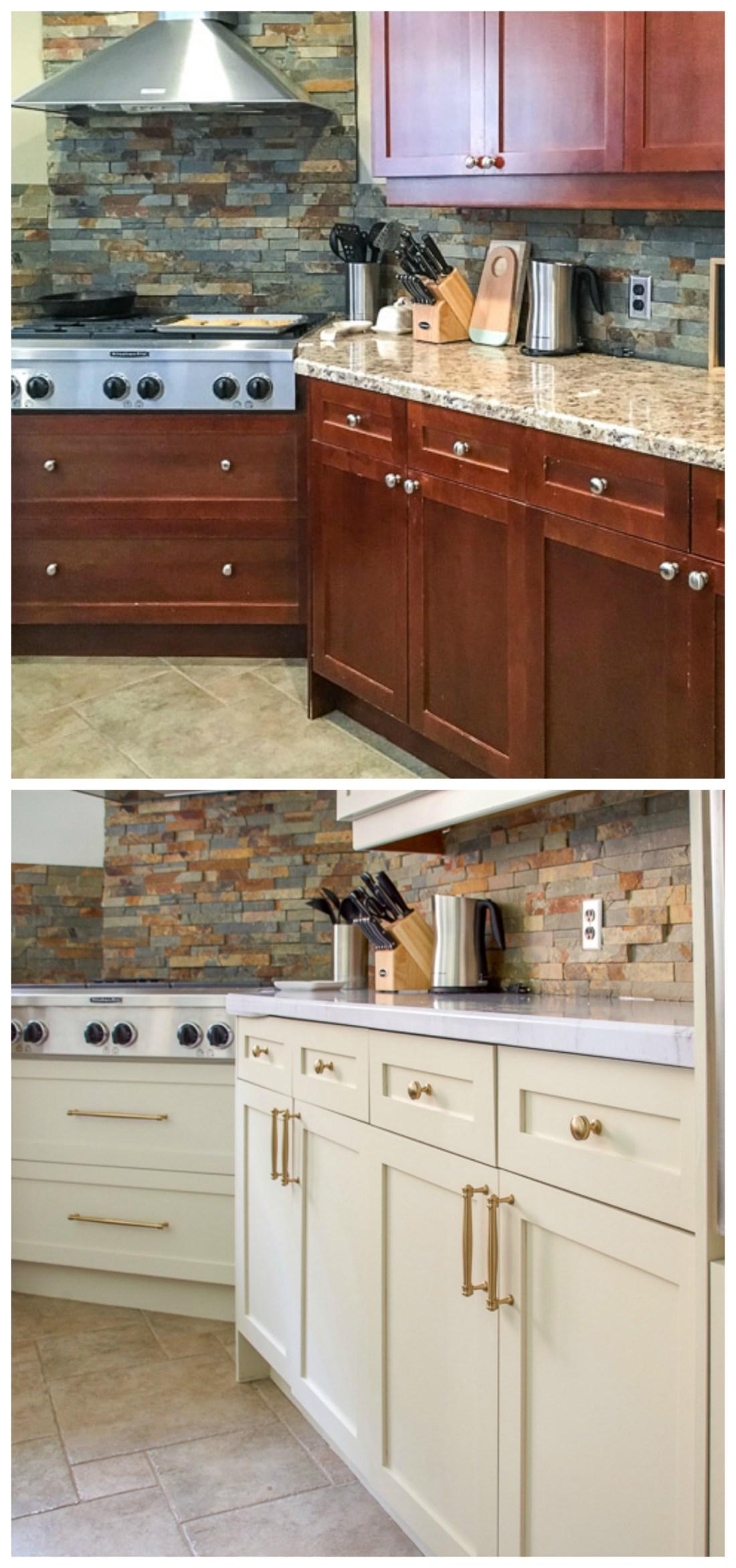 Charmaine pull, Liberty Hardware, champagne bronze, cabinet hardware