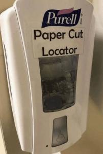 Too funny - paper cut locator
