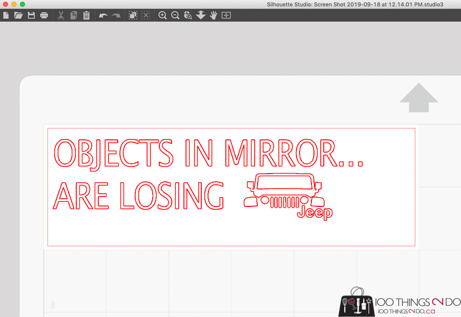 Objects in mirror are losing, Jeep decal, car decal, mirror decal, DIY car decal