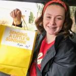 Delivering sunshine bags