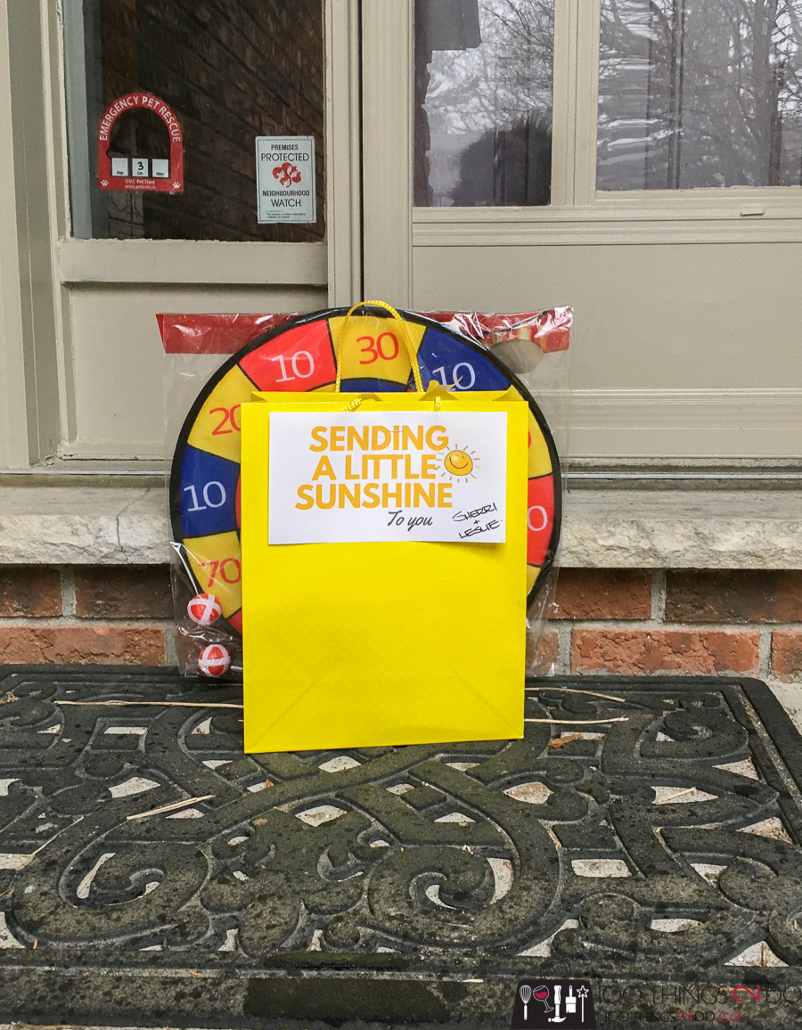 Sunshine bag on front porch