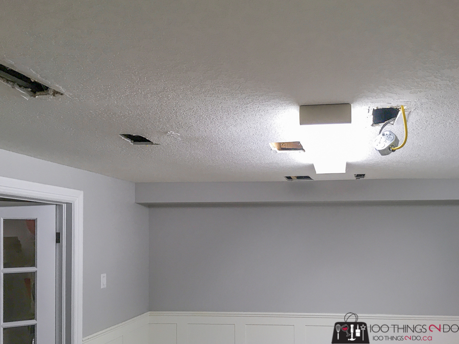 holes in ceiling