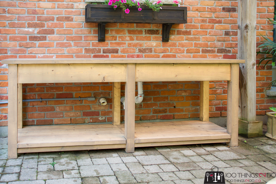 Patio console table, bbq table