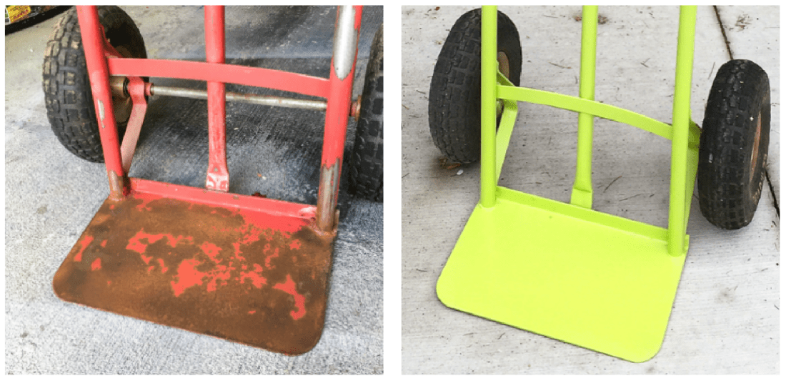 refurbished hand truck, hand truck, furniture dolly, refrigerator dolly