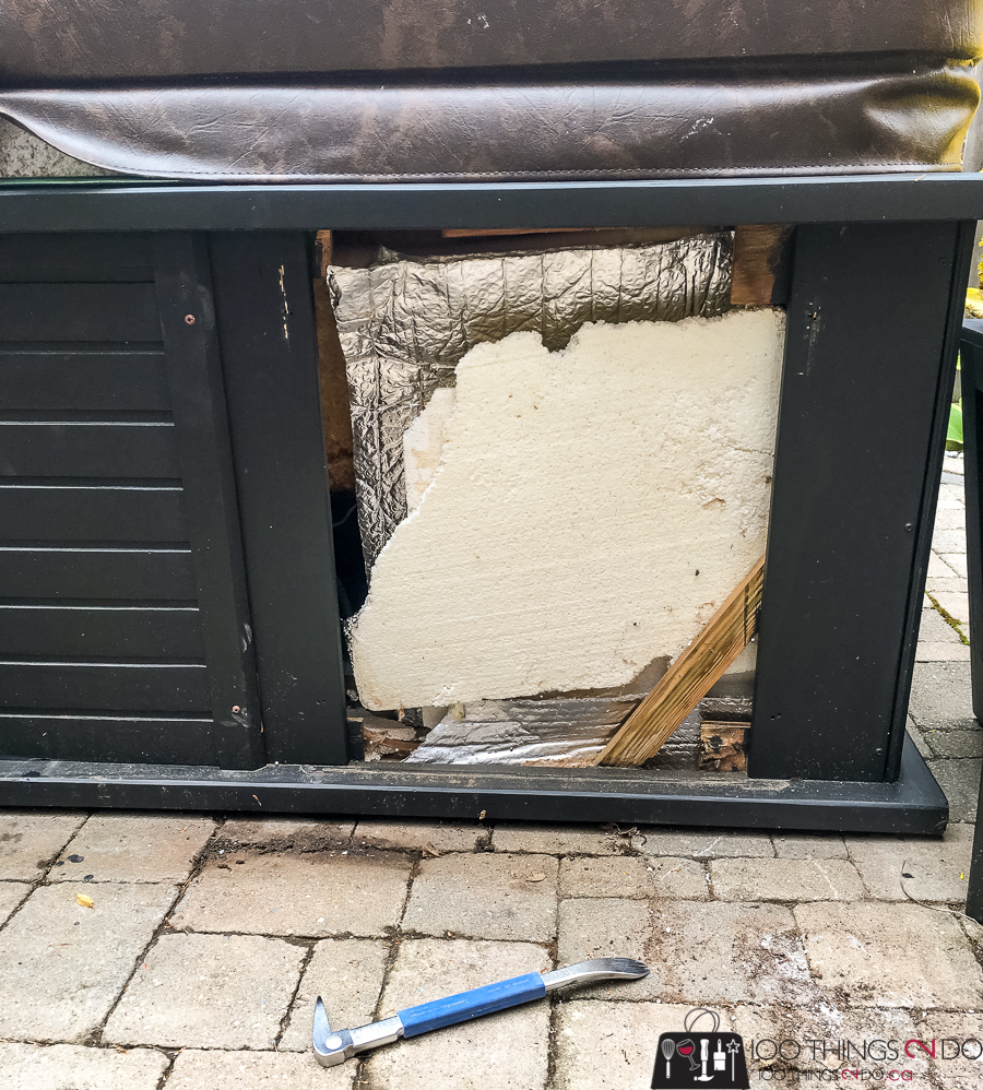 old hot tub insulation