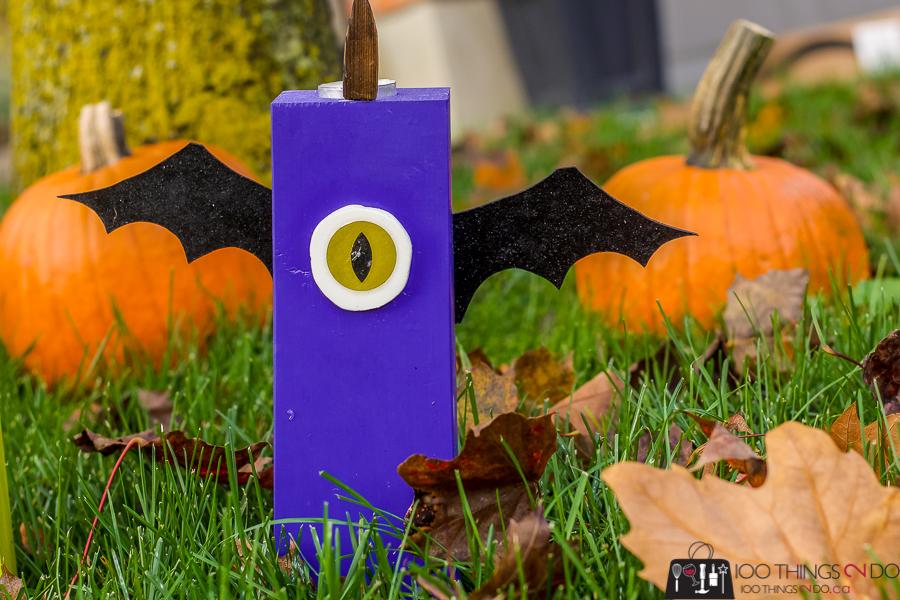 wood Purple People Eater, scrap wood monster