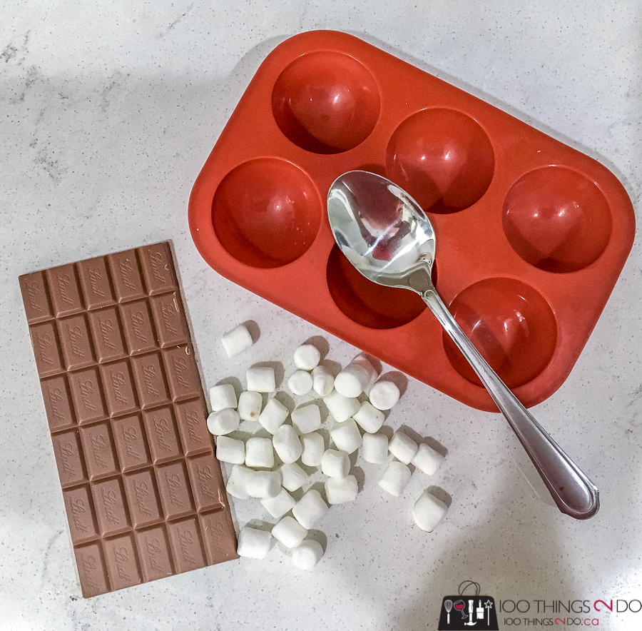 ingredients for hot cocoa bombs