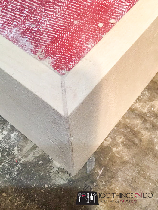fixing a gap in a mitred corner