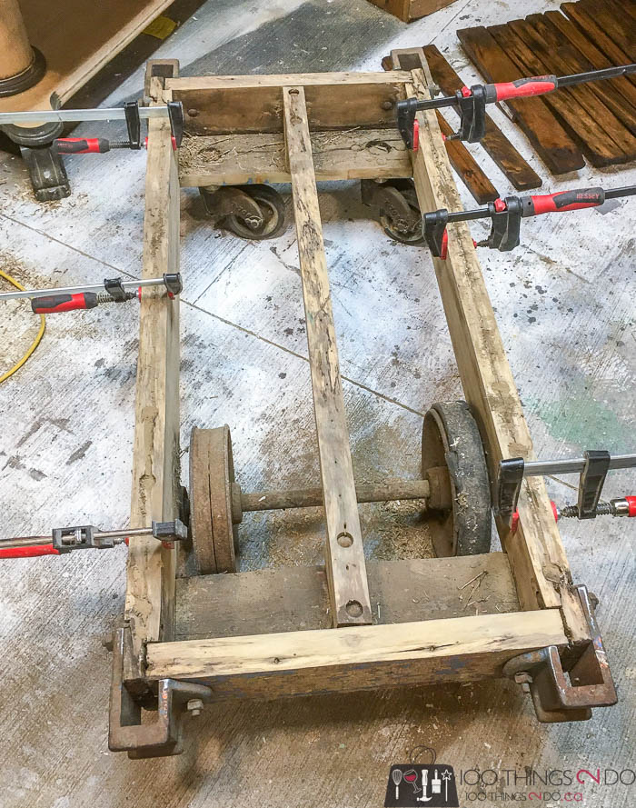 dismantled factory cart