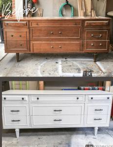 9-drawer dresser makeover, dresser makeover, refinishing a dresser, refinished dresser