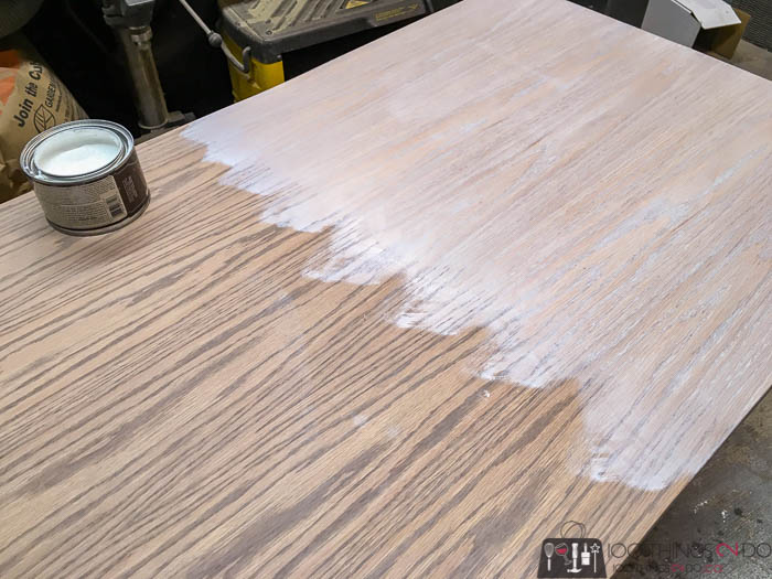weathered oak stain and white gel stain