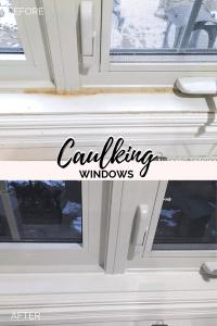 Caulking windows, how to caulk windows, repairing caulk on windows