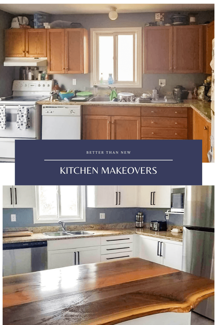 Kitchen makeover, painted kitchen, kitchen before and after, kitchen makeovers