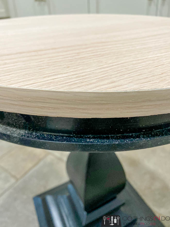 edge banding on small side table