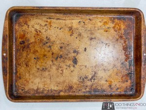 Cleaning a cookie sheet, how not to clean a cookie sheet, methods for cleaning a cookie sheet that don't work