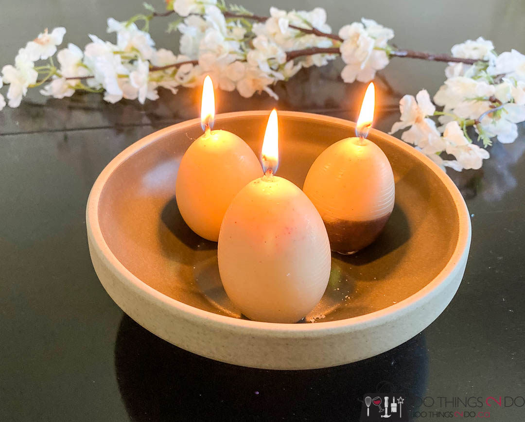 Egg candles, how to make egg candles