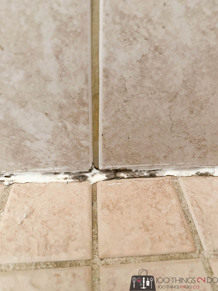 mildew forming in shower caulking