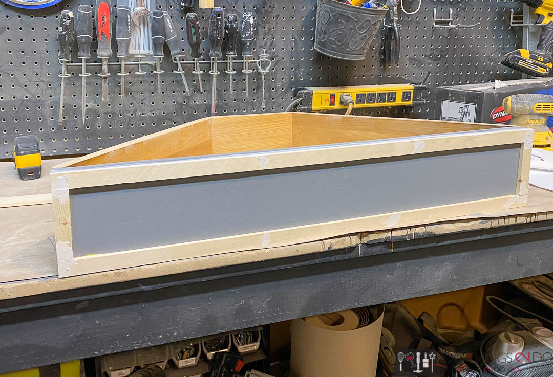 adding trim to drawer fronts