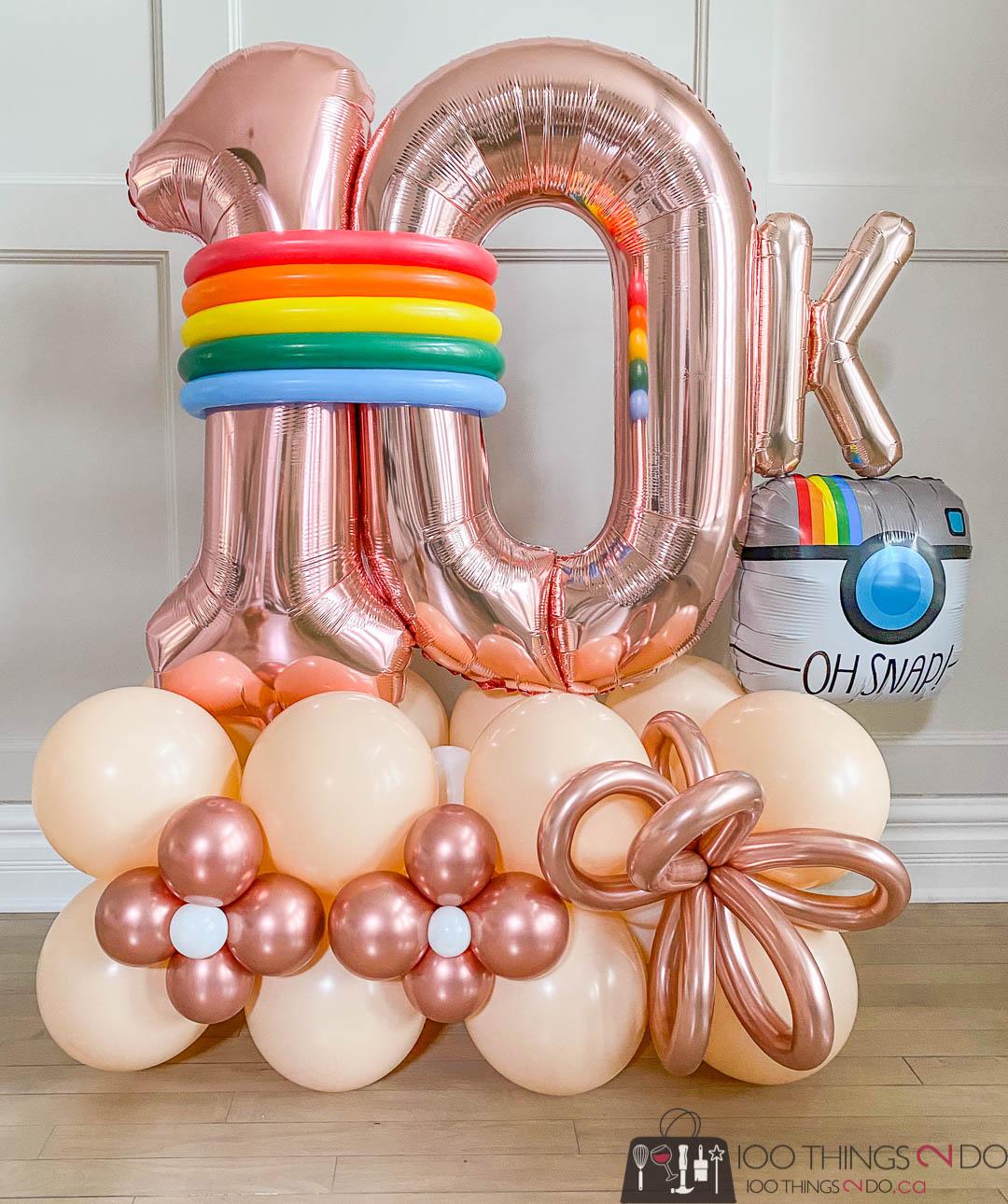 Instagram 10K, 10,000 followers, 10K balloons, 10K balloon bouquet