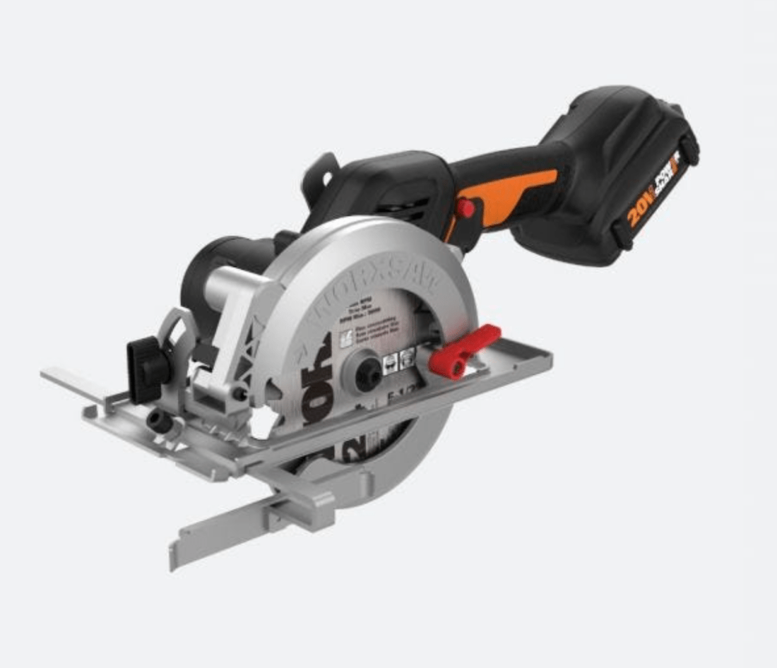 "NITRO 20V POWER SHARE WORXSAW 4.5"" CORDLESS COMPACT CIRCULAR SAW WITH BRUSHLESS MOTOR"