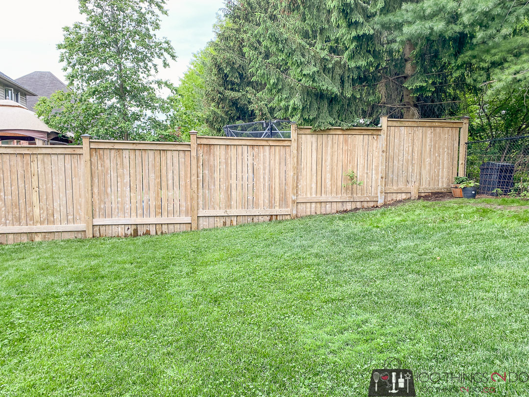 pressure washed fence