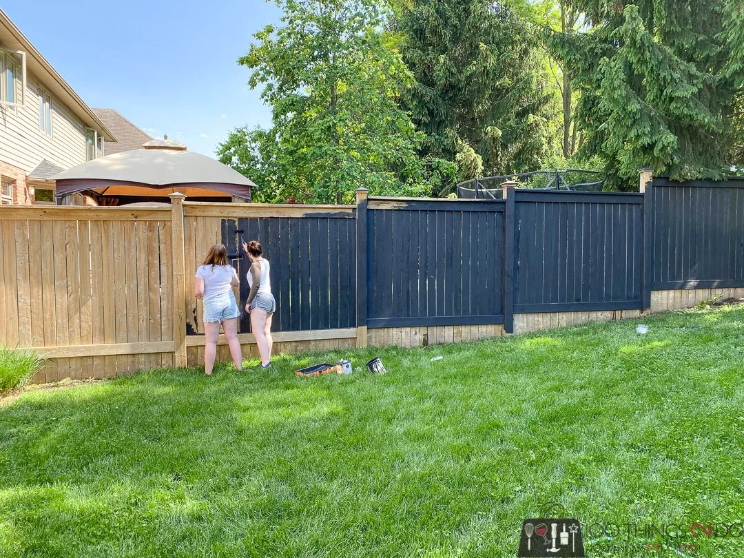 Staining your fence black