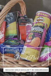 period kit, period pack, tweenager period kit, first period kit